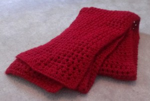 Simple Red Lace Scarf